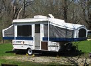 Living in a Travel Trailer or Pop-up Camper in the Woods