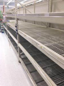Water isle at Walmart 2 days before Hurricane Matthew