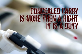 Concealed Carry is more then a Right, It is a Duty